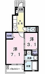 パークサイドK.S.S A棟[1階]の間取り