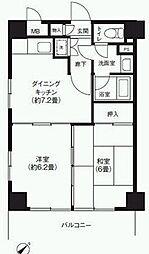 三敬中洲マンション[5階]の間取り