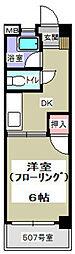 コーポ松永[507号室]の間取り