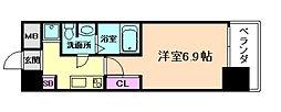 セレニテ福島シェルト 14階1Kの間取り