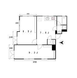 apartmentKURO三軒茶屋[4階]の間取り