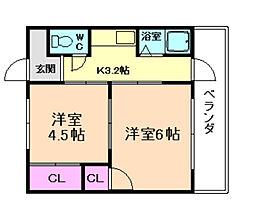 グレースマンション[1階]の間取り