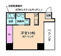 Apt.新梅田[6階]の間取り