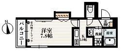 西武新宿線 上石神井駅 徒歩7分の賃貸マンション 2階1Kの間取り