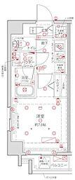 都営浅草線 浅草橋駅 徒歩2分の賃貸マンション 6階1Kの間取り