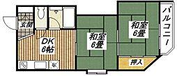 清本ハイツ[2階]の間取り