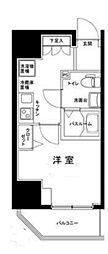 ルフレプレミアム川崎 4階1Kの間取り