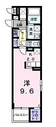 ライルエフ北野田 4階1Kの間取り