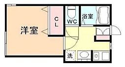 KAWAMURA HOME 1階1Kの間取り