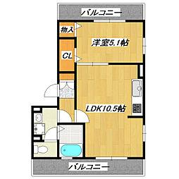 東京都江戸川区東小岩5丁目の賃貸アパートの間取り