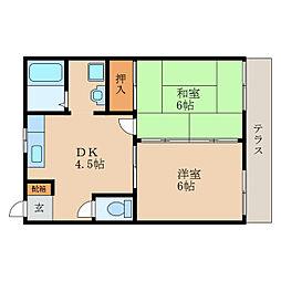滋賀県守山市吉身3丁目の賃貸アパートの間取り
