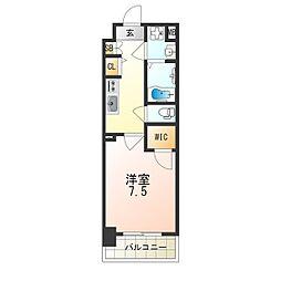 JR大阪環状線 弁天町駅 徒歩9分の賃貸マンション 4階1Kの間取り