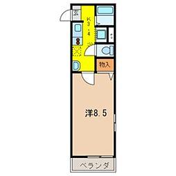 埼玉県越谷市越ヶ谷1の賃貸アパートの間取り