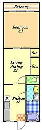 コミネマンション[2階]の間取り
