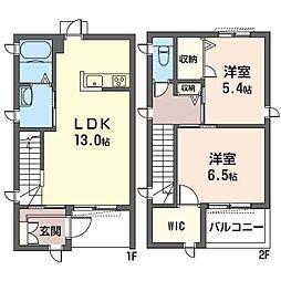 (仮)平塚市北金目3丁目シャーメゾンC[101号室]の間取り