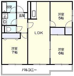 リバティハウス[307号室]の間取り