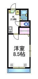 JR山手線 大塚駅 徒歩10分の賃貸アパート 3階1Kの間取り