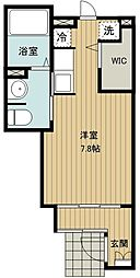 JR武蔵野線 新座駅 徒歩18分の賃貸アパート 1階1Kの間取り
