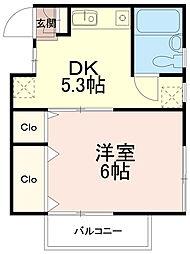 コーポ高松[2階]の間取り