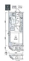 ジェノヴィア木場スカイガーデン 2階1Kの間取り