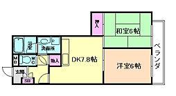 大阪府大阪市福島区吉野3丁目の賃貸マンションの間取り