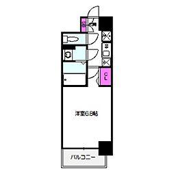 ファステート都島テーラー 5階1Kの間取り