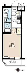 JR常磐線 亀有駅 徒歩10分の賃貸マンション 2階1Kの間取り