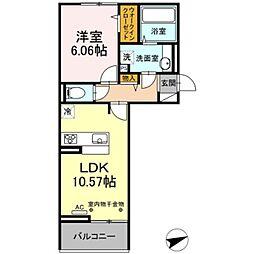 ルピナ梅満 3階1LDKの間取り