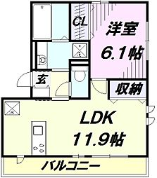 フルスハント II[3階]の間取り