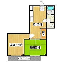 宇田川コーポ[2階]の間取り