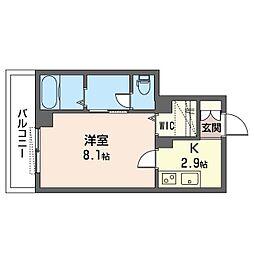仮)ベレオ・フジコート新松戸 1階1Kの間取り