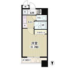 東京都中央区湊1丁目の賃貸マンションの間取り