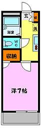 プチパレK[3階]の間取り
