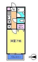 神奈川県川崎市高津区梶ケ谷3丁目の賃貸アパートの間取り