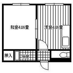 パラシオ寺塚[403号室]の間取り