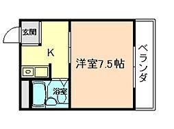 メロディーハイツ曽根[2階]の間取り
