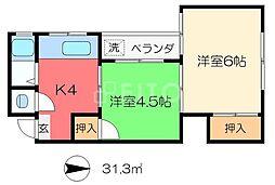 神楽荘[2階]の間取り
