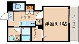 シーズ・ガレリア目黒 1階1Kの間取り