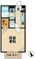 神奈川県厚木市恩名3丁目の賃貸アパートの間取り