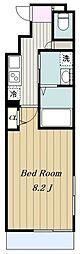 小田急小田原線 百合ヶ丘駅 徒歩3分の賃貸マンション 1階1Kの間取り