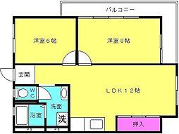 ハッピーコート東加古川[4-A号室]の間取り