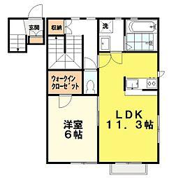 東京都練馬区石神井町3丁目の賃貸アパートの間取り