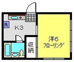 神奈川県横浜市磯子区中原1丁目の賃貸マンションの間取り
