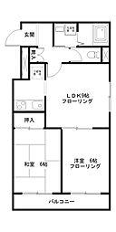 ドルチェ川崎[6階]の間取り