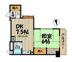 ペルソナージュ横浜[3階]の間取り