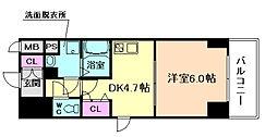 ファーストステージ梅田WEST[7階]の間取り