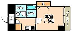 阪急今津線 宝塚南口駅 徒歩7分の賃貸マンション 7階1Kの間取り