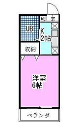 西船本郷マンション[303号室]の間取り