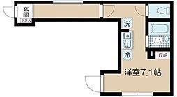 JR中央線 高円寺駅 徒歩10分の賃貸アパート 1階ワンルームの間取り