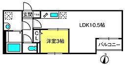 THE HOUSE 与野本町 Noir 1階1LDKの間取り